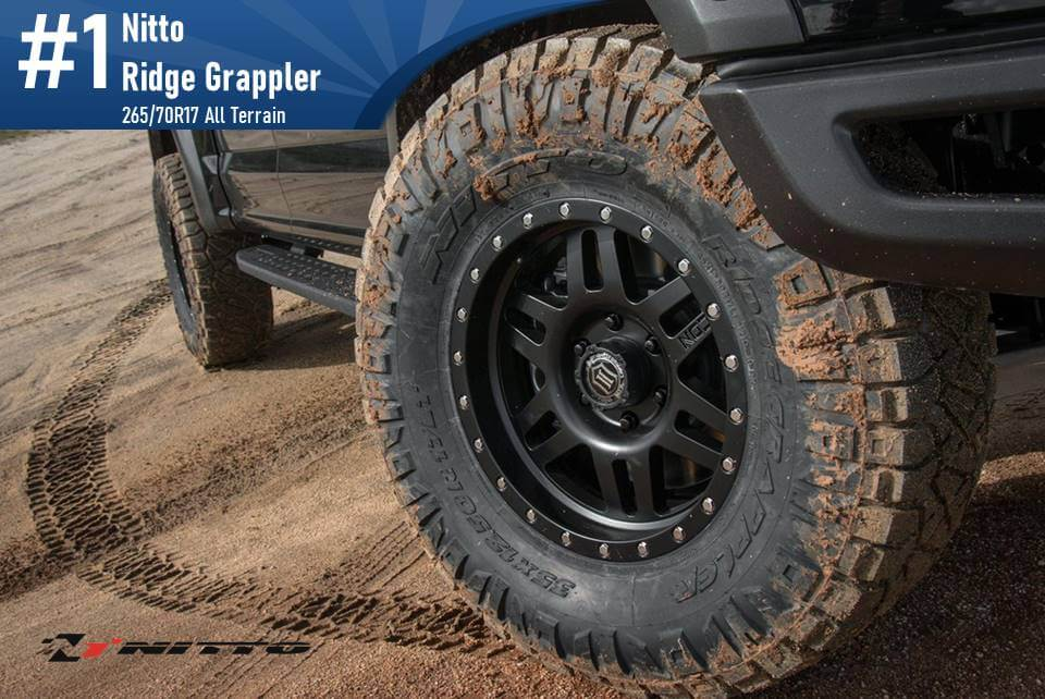 265/70R17 Nitto Ridge Grappler