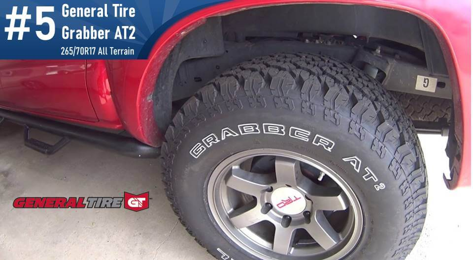 265/70R17 General Tire Grabber AT 2